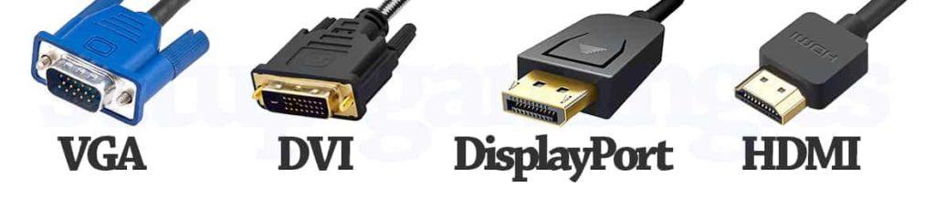 conexiones vga hdmi dvi displayport diferencias 2021